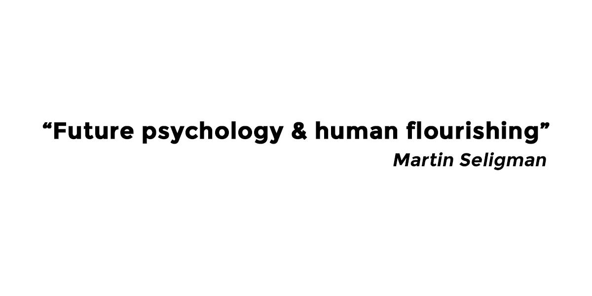 撮り下ろし/Martin Seligman/未来の心理学と人類の繁栄